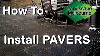 How To Install Paving 4