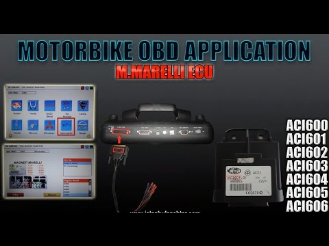 PEUGEOT VESPA PIAGGIO GILERA MOTORBIKE OBD APPLICATION M Marelli ACI601 ECU