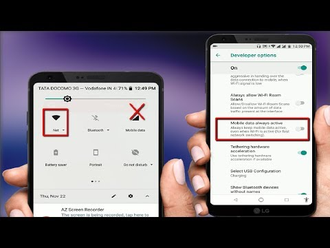 How To Automatically Disabled Mobile Data When Connected To Wifi In Android