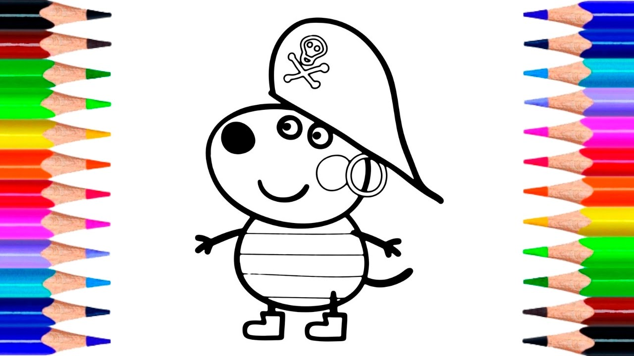 peppa pig danny dog coloring pages how to draw peppa pig freddy