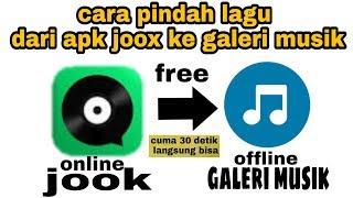 Cara Save lagu dari JOOX ke galeri musik hp kita