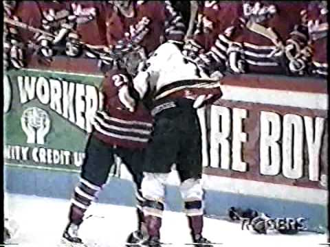 Oshawa Generals vs Barrie Colts OHL Line Brawl Oct 03/99