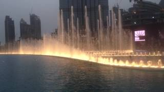 The Dubai Water Fountain Show 2016