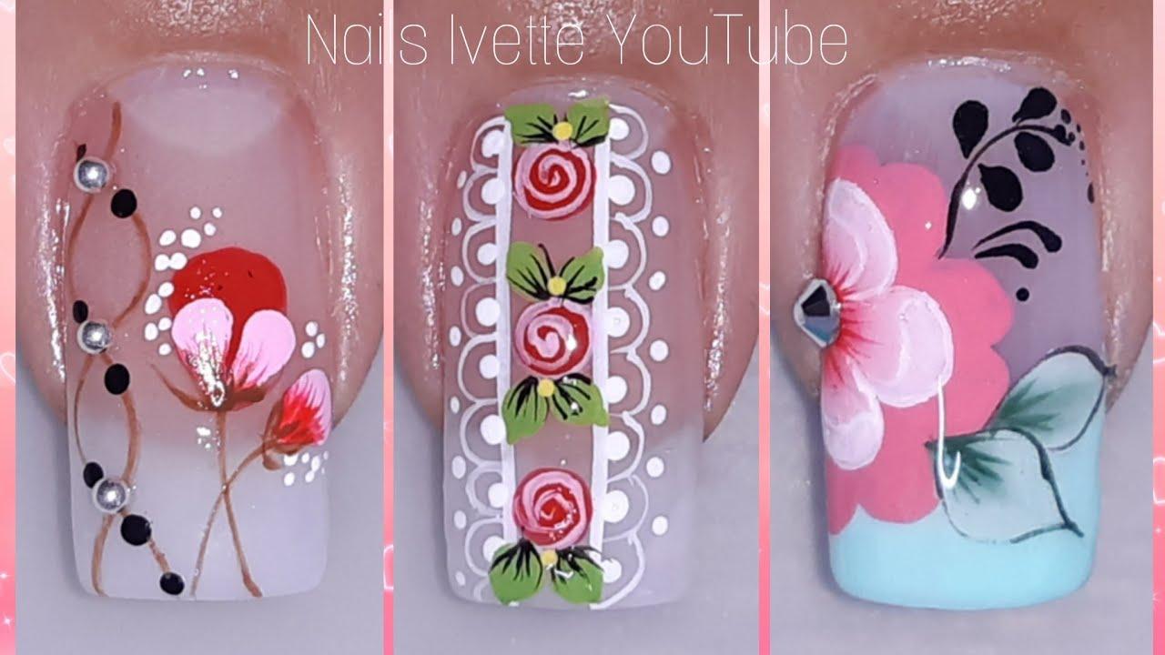 3 modelos de decoración de uñas/diseños de uñas variados y ...