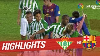 Resumen de Real Betis vs FC Barcelona (2-2) 2011/2012