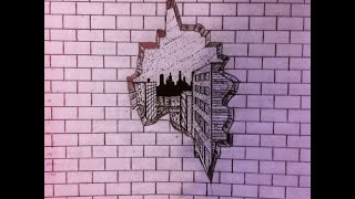 How to draw a hole in a brick wall