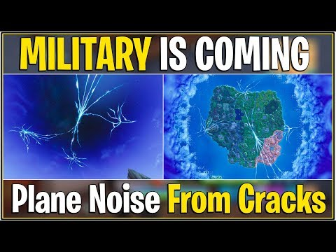 *NEW* Fortnite: MILITARY IS COMING FROM THE CRACKS! | (Plane Noises from Crack!)