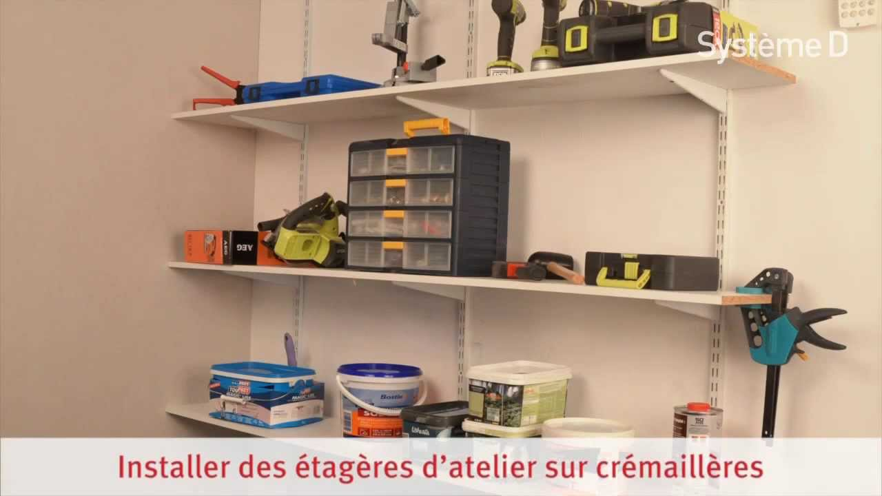 Installer des tag res sur cr maill res youtube - Faire des etageres dans un garage ...