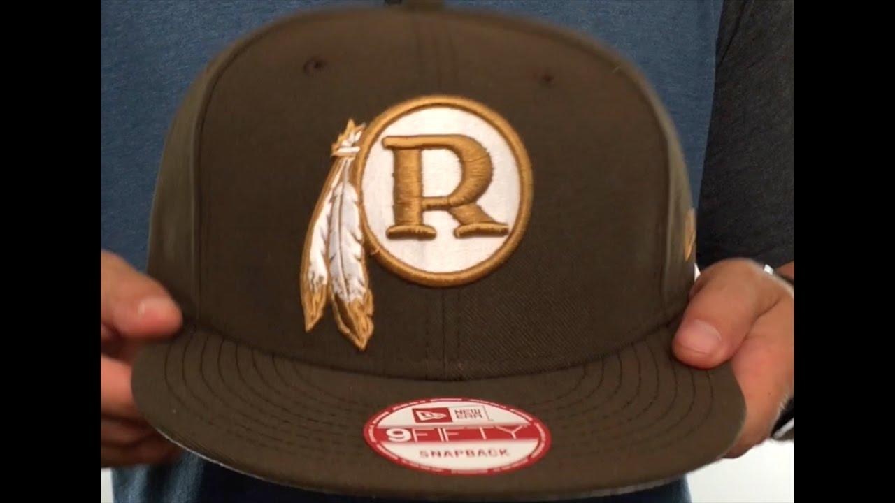 3f56ab3b2317ac Washington Redskins THROWBACK TEAM-BASIC SNAPBACK Brown-Wheat Hat