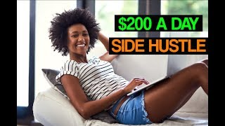 Best Side Hustle Ideas - Make $200 DAILY From This One Job Online!