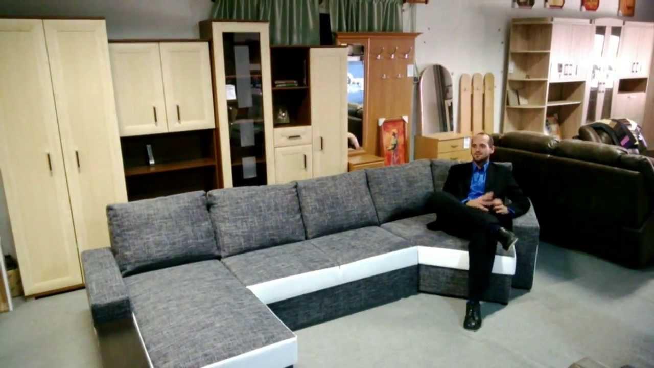 Sarok ülőgarnitúra, modern ágyazható - YouTube