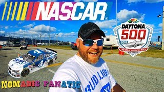 Camping INSIDE the Daytona 500 Nascar Track!!!
