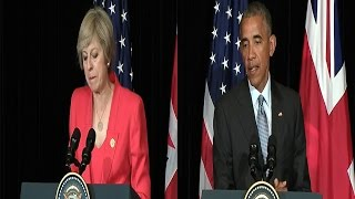Theresa May and Barack Obama Joint Press Conference - UK Trade Deal - G20 summit in China #Updated
