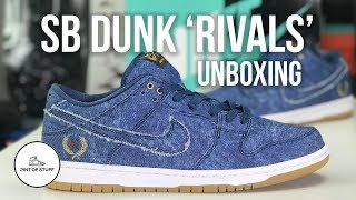 Contracción alimentar Armstrong  Nike SB Dunk Low Rivals Pack 'East Coast' Denim QS Unboxing with Mr B -  YouTube