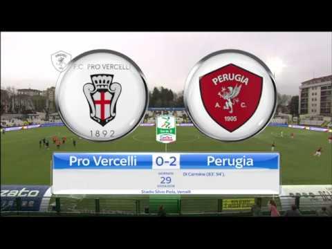 Pro Vercelli-Perugia 0-2, la sintesi