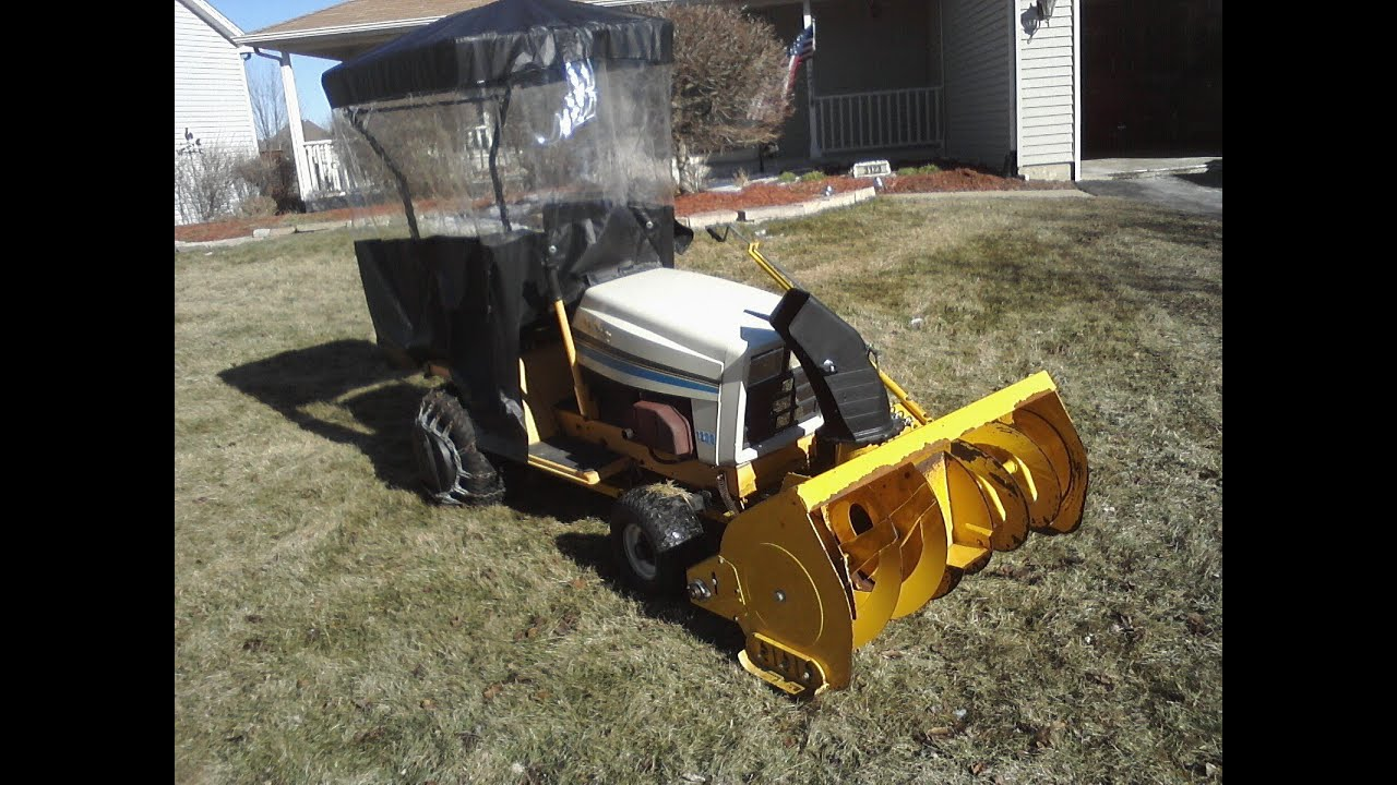 cub cadet 1330 with snowblower cab weights chains and cover rh youtube com cub cadet model 1330 owners manual Warner Electric PTO Clutch for Cub Cadet 5209 46