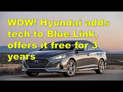 wow hyundai adds tech to blue link offers it free for 3. Black Bedroom Furniture Sets. Home Design Ideas