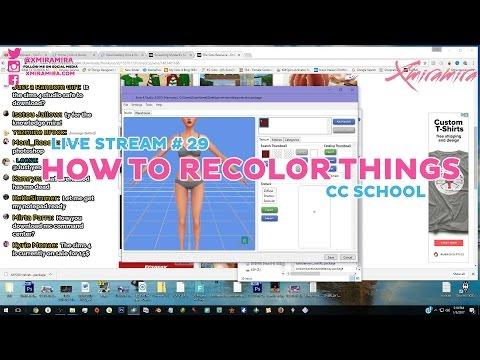 Livestream # 29 | How To Recolor, Download CC And More | Xmiramira's CC School