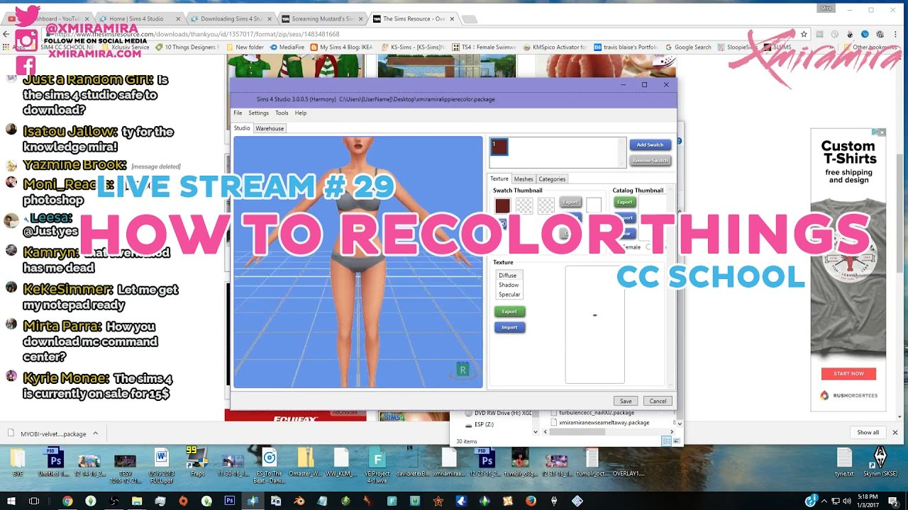 Design t shirts software download free - Livestream 29 How To Recolor Download Cc And More Xmiramira S Cc School