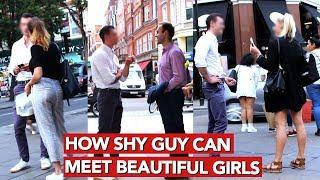How shy guy can meet beautiful girls? Infield video