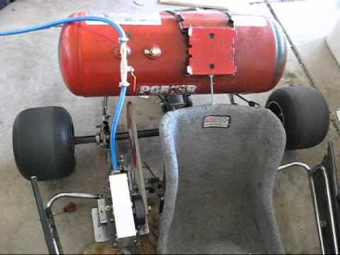 The kendall motor compressed air turbine powered go kart for What is air motor