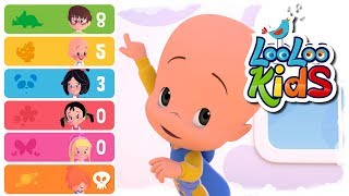Five Little Monkeys - Educational Songs | LooLoo Kids