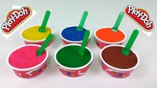 play doh ice cream surprise eggs toys spongebob minnie mouse hello kitty thomas the tank engine
