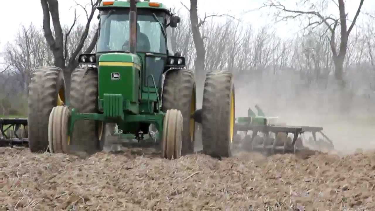 Fall Wallpaper With Deer Discing 2012 Hd John Deere 4440 And 630 Disc Youtube