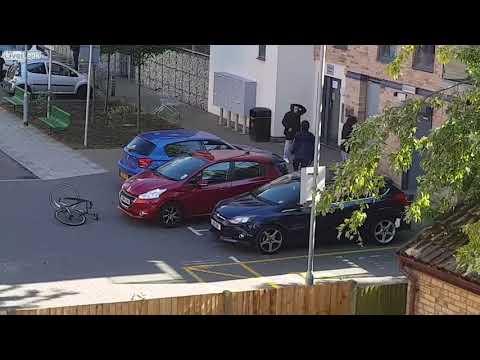 Knife fight in East London