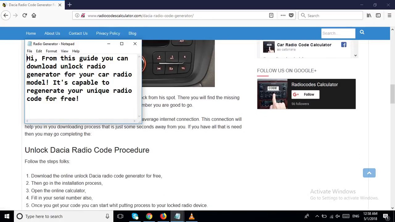 Dacia Radio Code Generator For Every Type Car Stereo Youtube