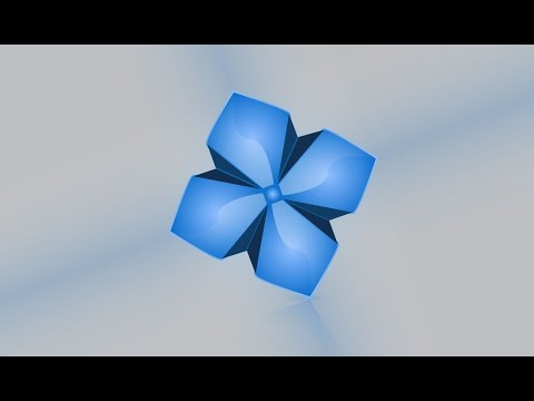 Illustrator Tutorial | 3D Floral Logo Design (Blue)