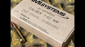 7.62x51mm, 240gr HPBT SMK Subsonic, IMI Systems Velocity/Function Test