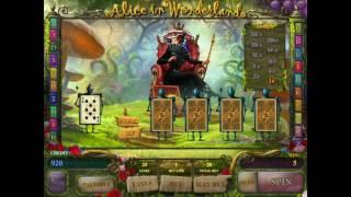 видео Игровой автомат Alice In Wonderland