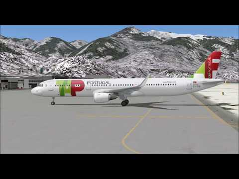 AIRBUS A321 211 SHARKLETS TAP AIR PORTUGAL TAKE OFF FROM INNSBRUCK AIRPORT FS9 HD