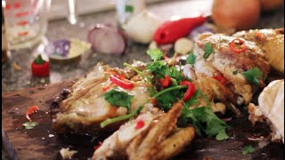 Butterfly Roast Chicken With Herbs And Chili By Erwan Heussaff