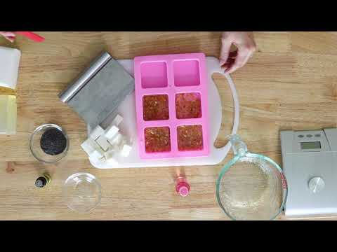 How To Make Easy Melt And Pour Soap For Beginners - Exfoliating Lemon Poppyseed