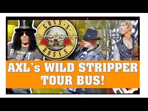 Guns N' Roses News: Axl Rose Wild Tour Bus & Dizzy's Daughter Gets Married