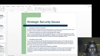 Strategic Cyber Security Plan Presentation