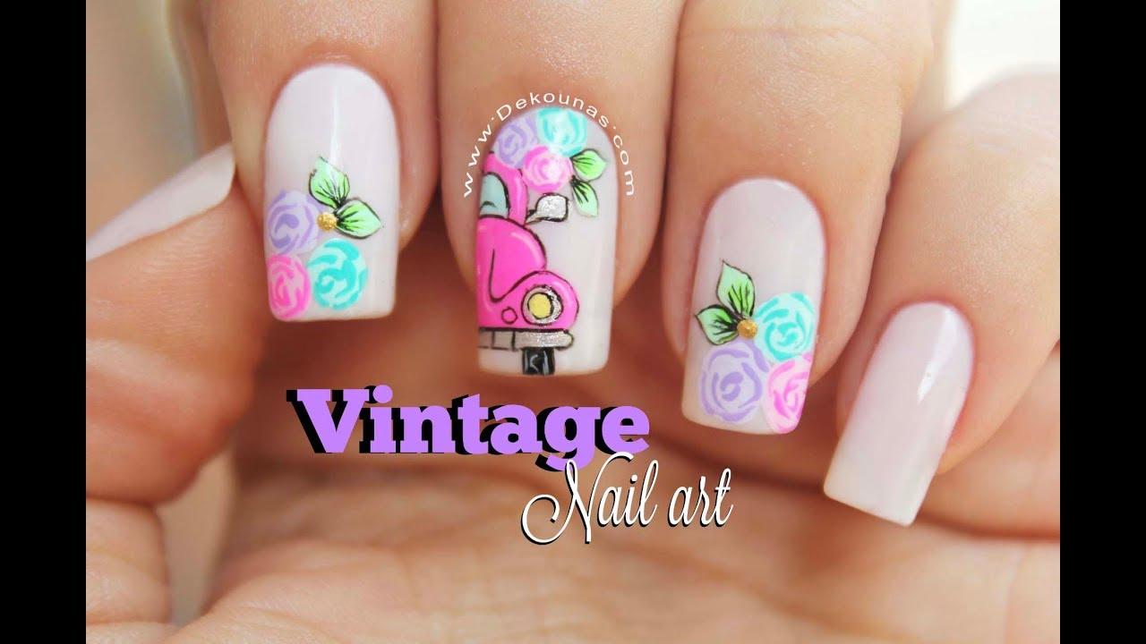 Dise o de u as 2 dise os vintage 2 vintage nail art - Decorados de unas ...