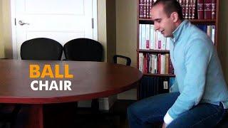 Ball Chair - Evan's exercise ball