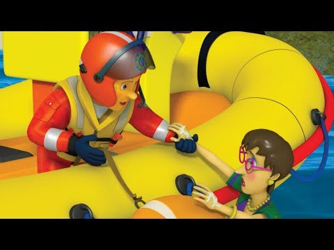 Fireman Sam Full Episodes   Mandy at Sea  🚒 🔥 Rescues Marathon   Cartoons for Children