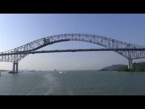 Panama Canal, Panama - Transit - Bridge of the Americas HD (2014)