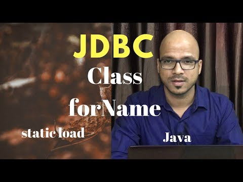 16.5 Class forName use in JDBC