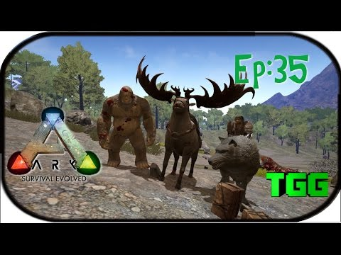 Ark: Survival Evolved Ep:35 The Swamp Base So Far and Snow Tames