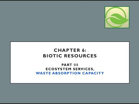 Ecological Economics: Chapter 6 Biotic Resources - Part 3