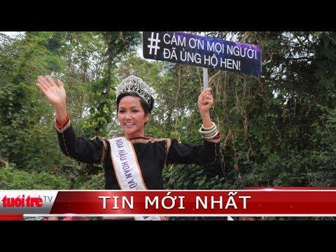 ⚡ NÓNG | Hoa hậu H'Hen Niê về làng trên xe máy cày
