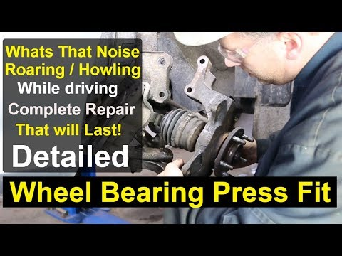 Kia Sedona – Front wheel bearing Complete repair DETAILED