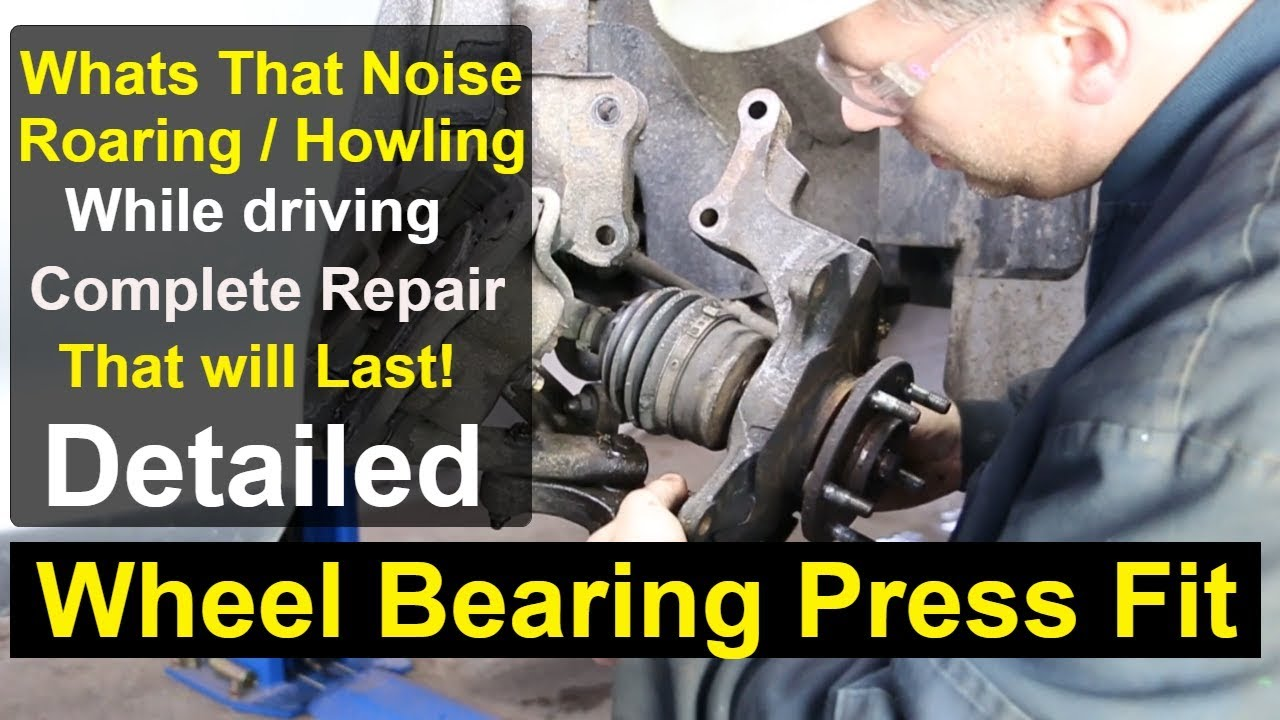 small resolution of kia sedona front wheel bearing complete repair detailed