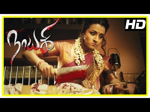 Nayaki Tamil Movie Scenes | Title Credits | News report on haunted village | Trisha intro