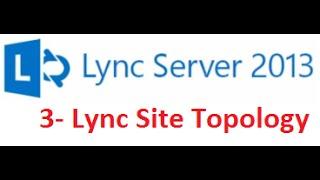 3  Lync Server 2013  Lync Site Topology